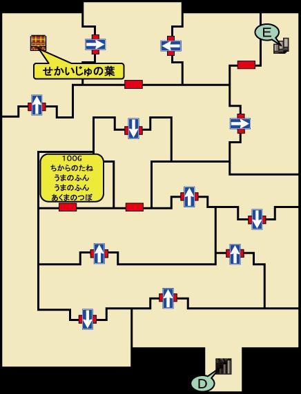 神殿への地下道